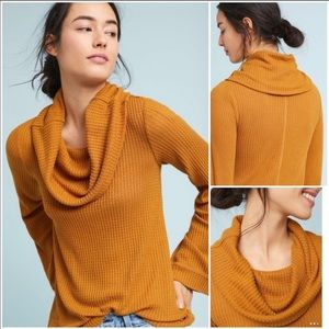 Anthropologie NWT Cowled Thermal Tunic Gold Medium
